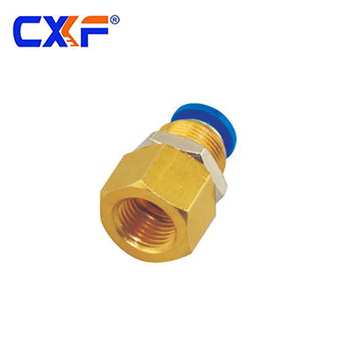 SPMF Series Bulkhead Female Straight Brass Fitting