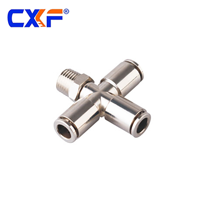 JPXC Series Male Cross Pneumatic Fitting